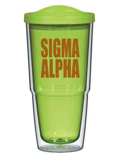 Sigma Alpha 24oz Biggie Impact Tumbler with Lid