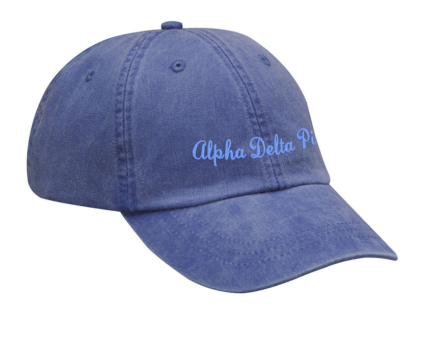Alpha Delta Pi Cursive Embroidered Hat
