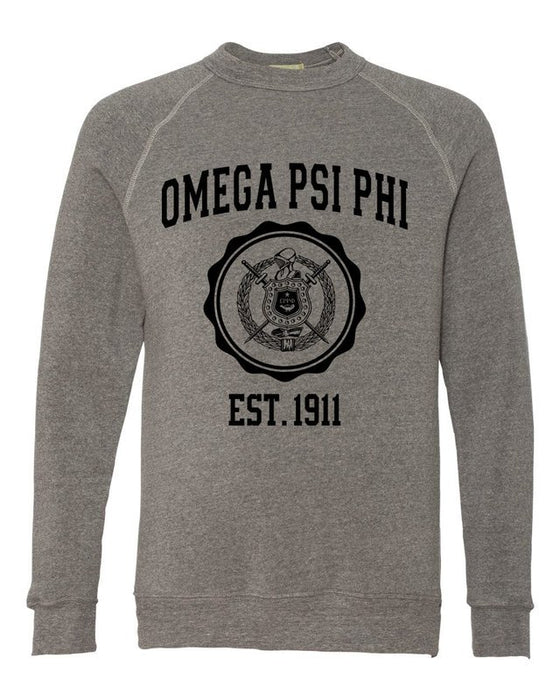 Omega Psi Phi Alternative Eco Fleece Champ Crewneck Sweatshirt