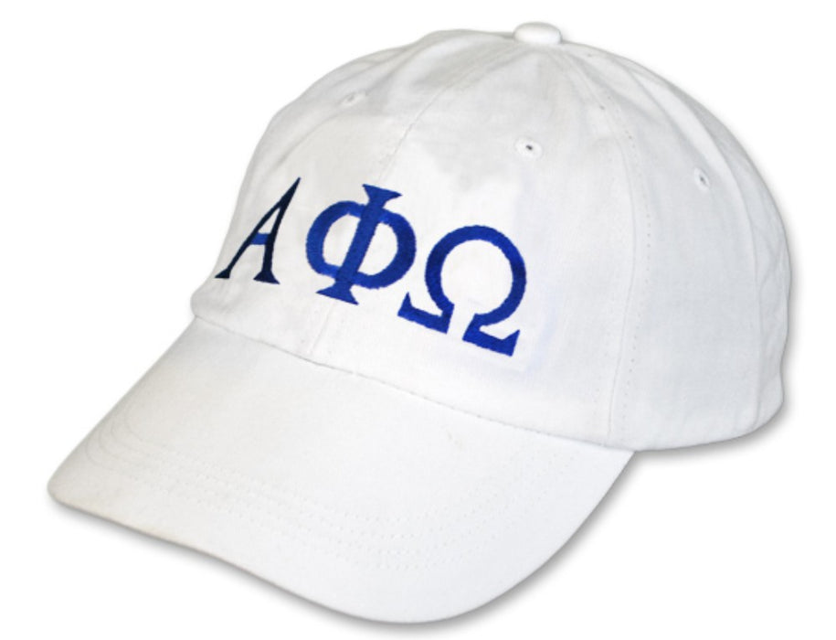 Alpha Phi Omega Greek Letter Embroidered Hat