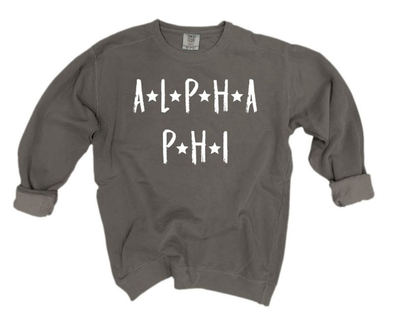 Alpha Phi Comfort Colors Starry Nickname Sorority Sweatshirt