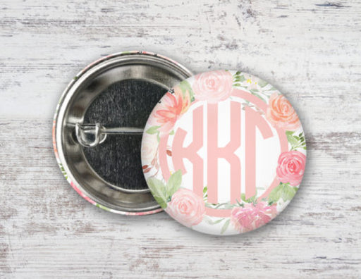 Kappa Kappa Gamma Pretty in Pink Button