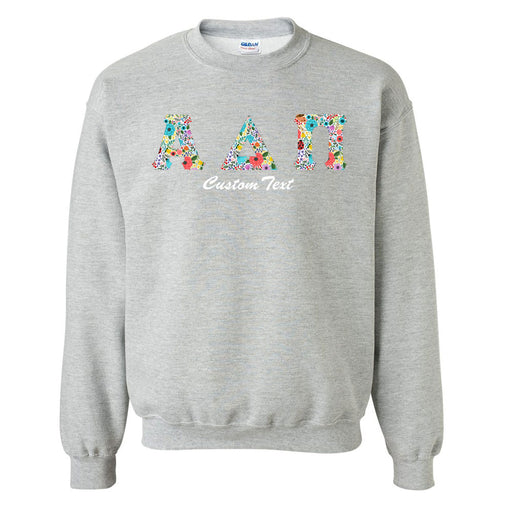 Crewneck Letters Sweatshirt with Custom Embroidery
