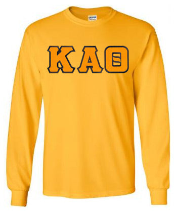 Kappa Alpha Theta Long Sleeve Greek Lettered Tee