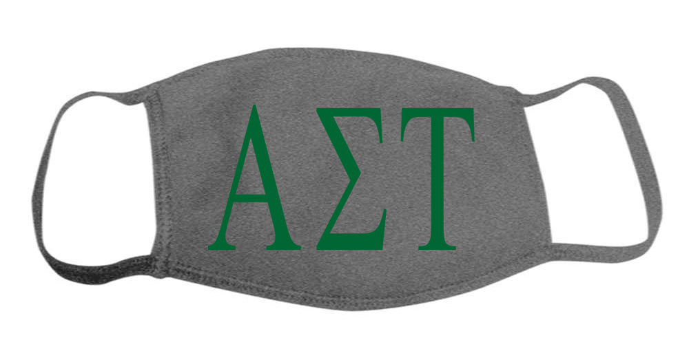 Alpha Sigma Tau Face Mask With Big Greek Letters