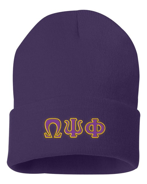 Omega Psi Phi Lettered Knit Cap
