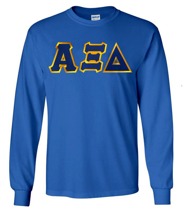 Alpha Xi Delta Long Sleeve Greek Lettered Tee
