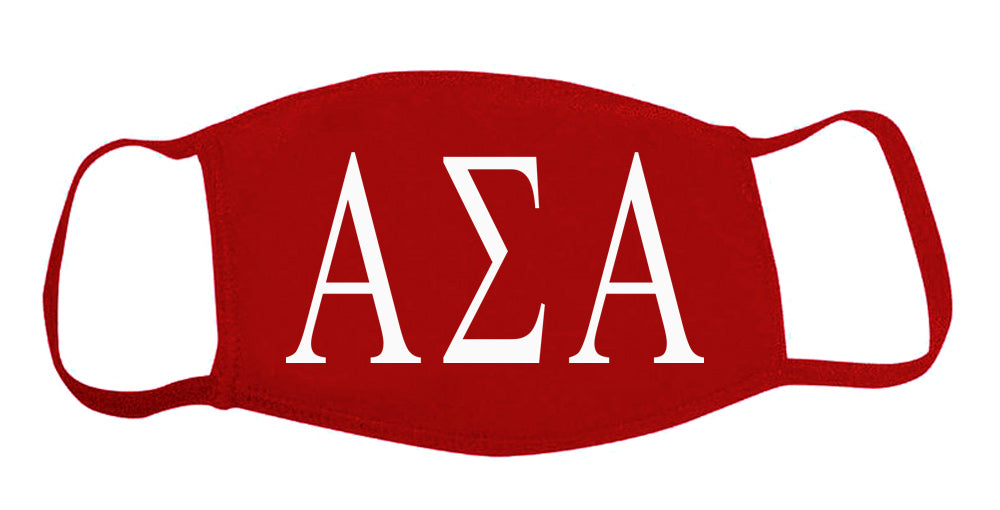 Alpha Sigma Alpha Face Mask With Big Greek Letters