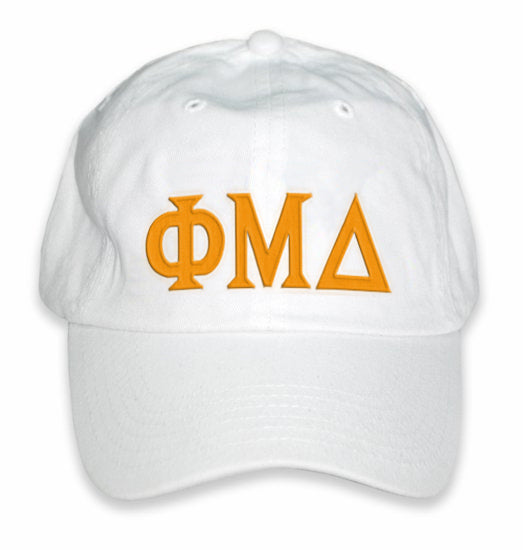 Phi Mu Delta Greek Letter Embroidered Hat