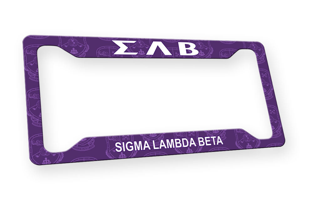 Sigma Lambda Beta New License Plate Frame