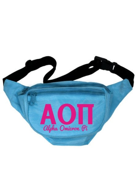 Alpha Omicron Pi Letters Layered Fanny Pack