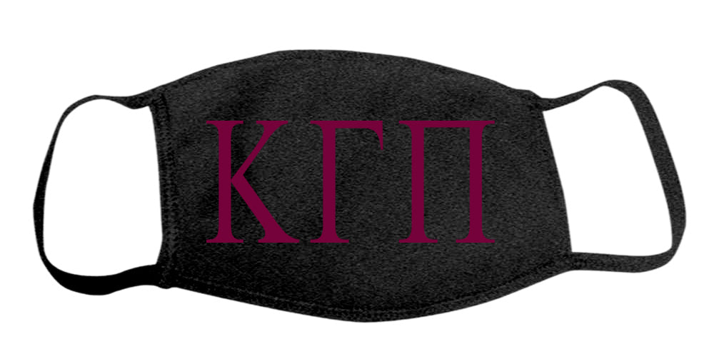 Kappa Gamma Pi Face Mask With Big Greek Letters