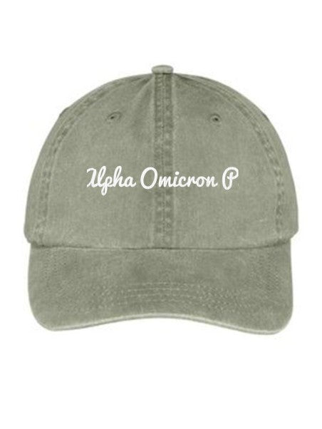 Alpha Omicron Pi Nickname Embroidered Hat