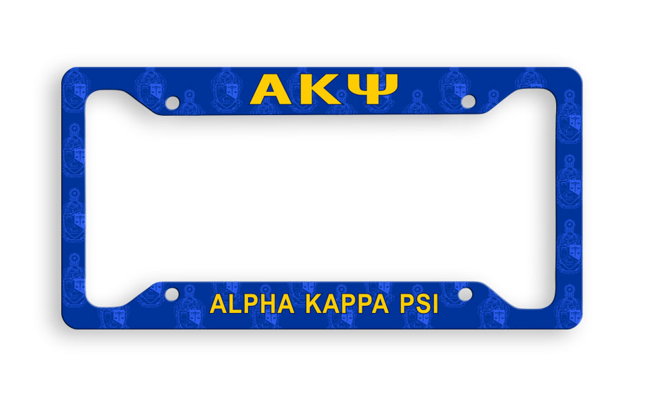 Alpha Kappa Psi New License Plate Frame
