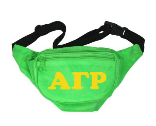Alpha Gamma Rho Letters Layered Fanny Pack