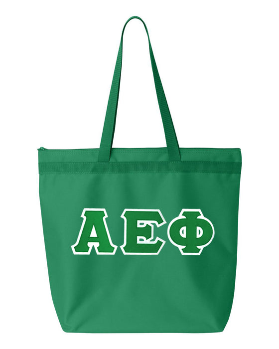 Alpha Epsilon Phi Greek Lettered Game Day Tote
