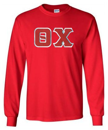 Theta Chi Long Sleeve Greek Lettered Tee