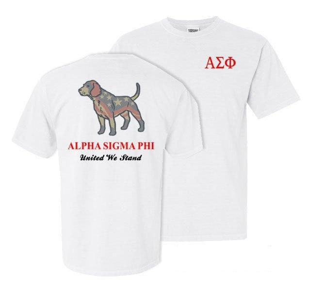 Alpha Sigma Phi Stand Tall Comfort Colors Heavy Tee