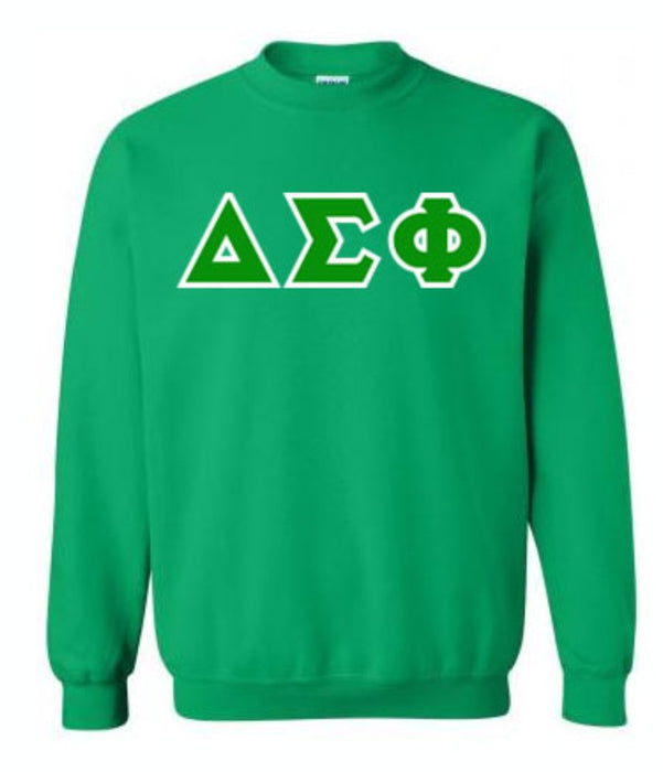 Delta Sigma Phi Classic Colors Sewn-On Letter Crewneck