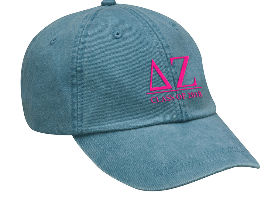 Delta Zeta Embroidered Hat with Custom Text