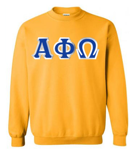 Alpha Phi Omega Classic Colors Sewn-On Letter Crewneck