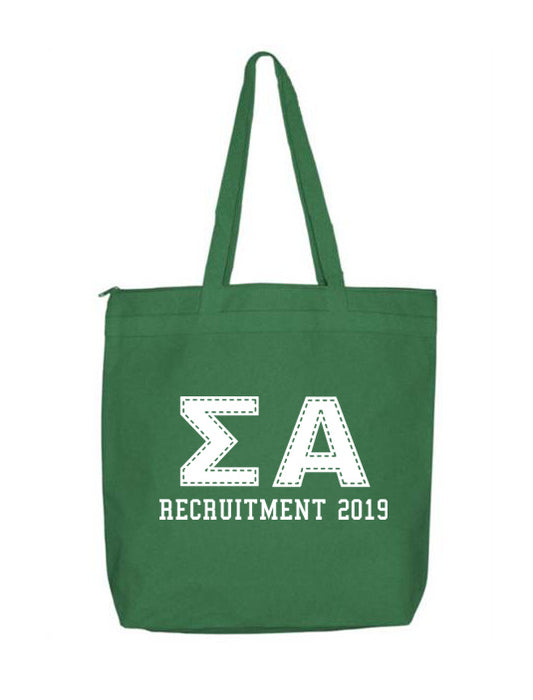 Sigma Alpha Collegiate Letters Event Tote Bag