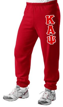 Kappa Alpha Psi Sweatpants with Sewn-On Letters