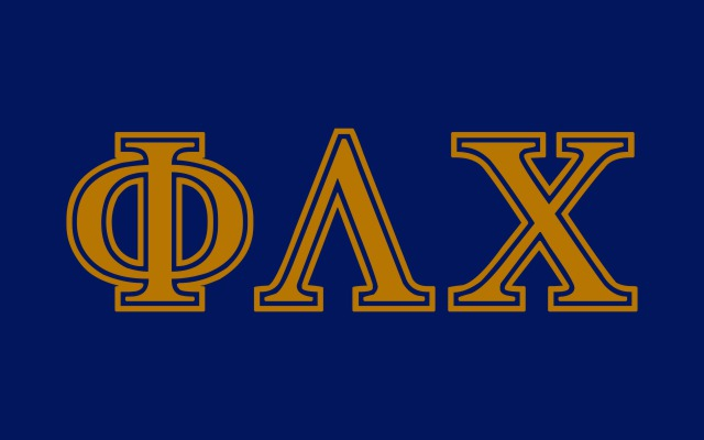Phi Lambda Chi Fraternity Flag Sticker