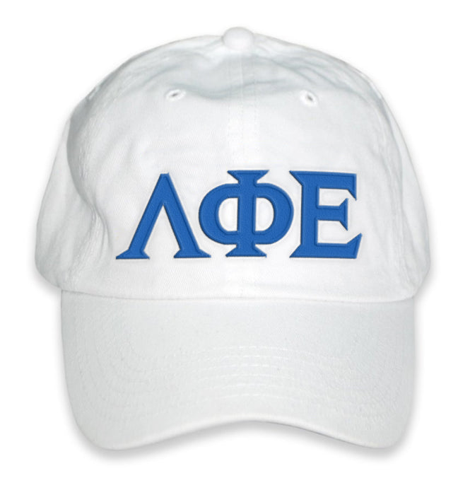 Lambda Phi Epsilon Greek Letter Embroidered Hat