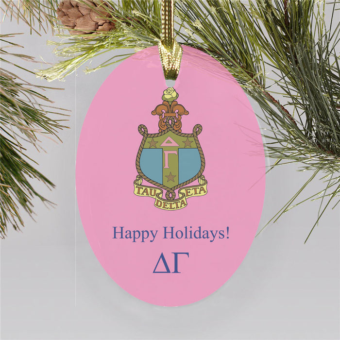 Delta Gamma Color Crest Ornament