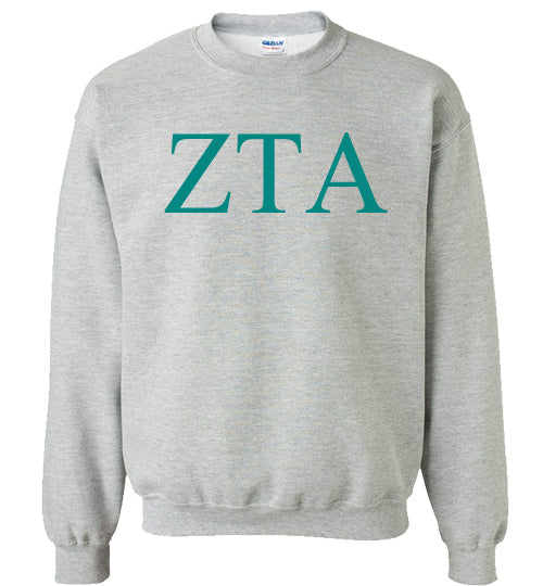 Zeta Tau Alpha World Famous Lettered Crewneck Sweatshirt