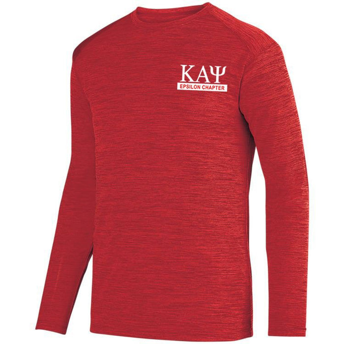 Kappa Alpha Psi $20 World Famous Dry Fit Tonal Long Sleeve Tee