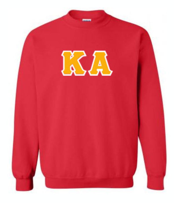 Kappa Alpha Classic Colors Sewn-On Letter Crewneck