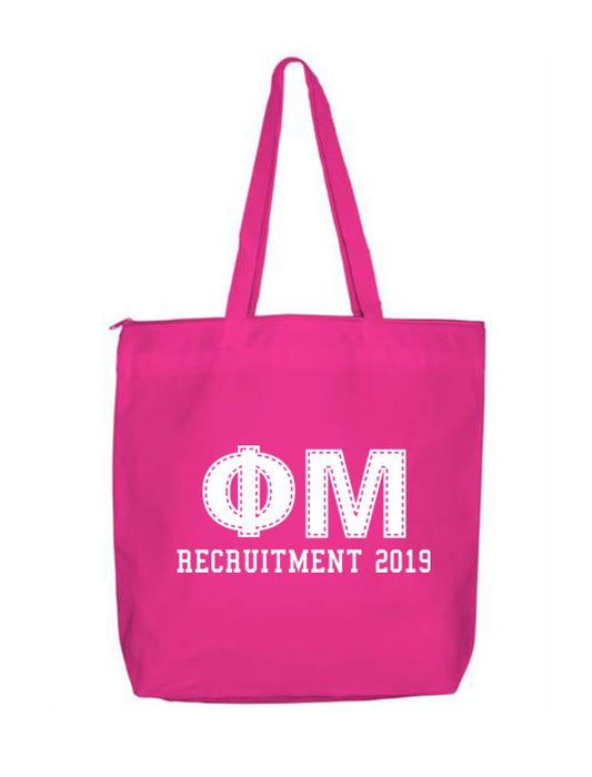 Phi Mu Collegiate Letters Event Tote Bag