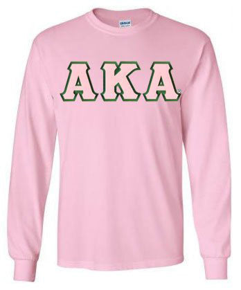 Alpha Kappa Alpha Long Sleeve Greek Lettered Tee