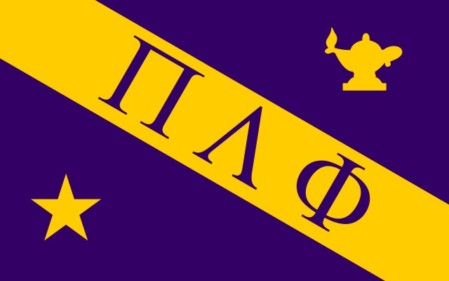 Pi Lambda Phi Fraternity Flag Sticker