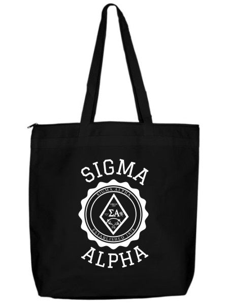 Sigma Alpha Crest Seal Tote Bag
