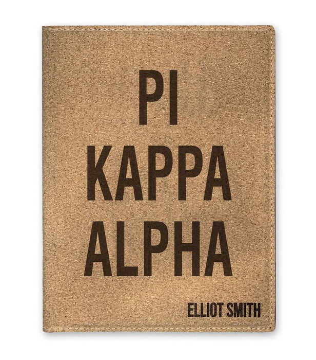 Pi Kappa Alpha Cork Portfolio with Notepad