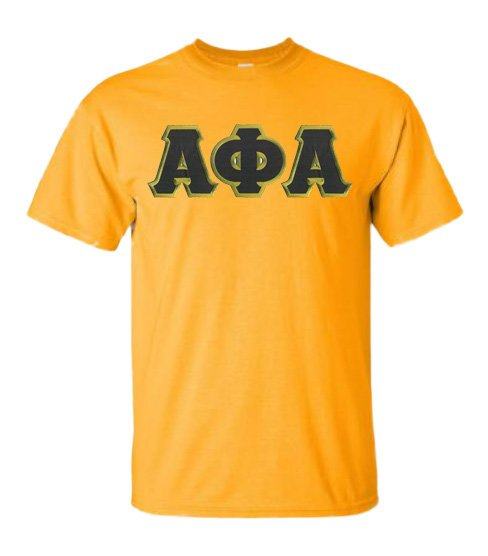 Alpha Phi Alpha Short Sleeve Crew Shirt with Sewn-On Letters