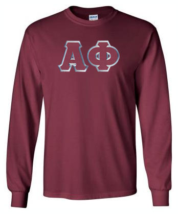 Alpha Phi Long Sleeve Greek Lettered Tee