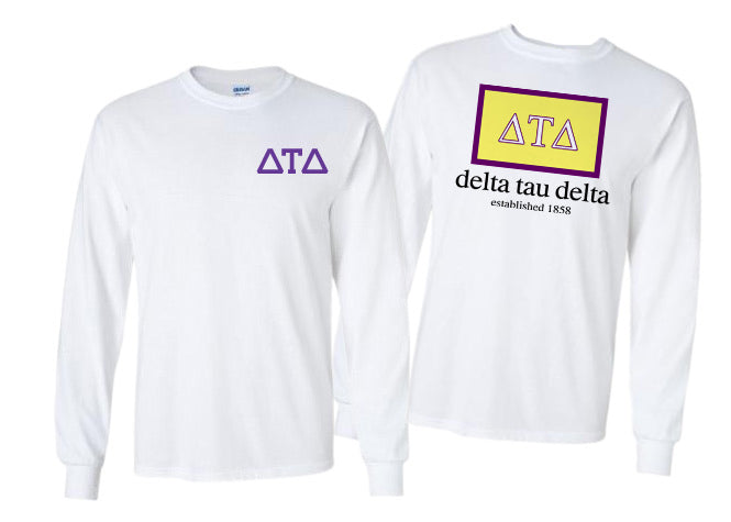 Delta Tau Delta Long Sleeve Flag Tee