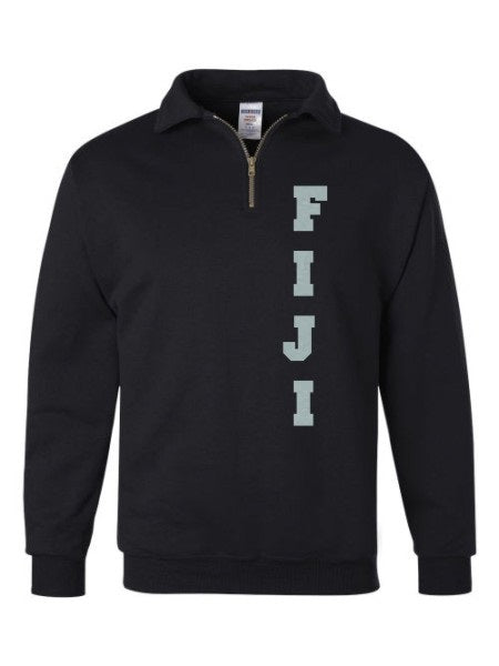 Phi Gamma Delta Quarter-Zip with Sewn-On Letters