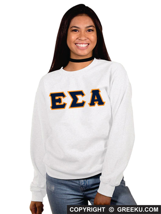 Epsilon Sigma Alpha Classic Colors Sewn-On Letter Crewneck