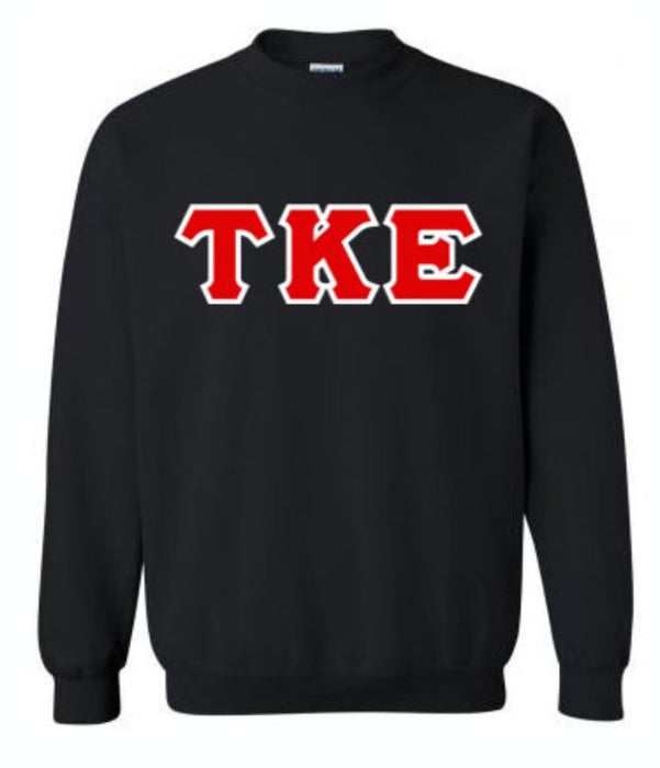 Tau Kappa Epsilon Classic Colors Sewn-On Letter Crewneck