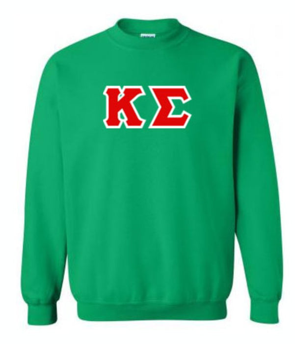 Kappa Sigma Classic Colors Sewn-On Letter Crewneck