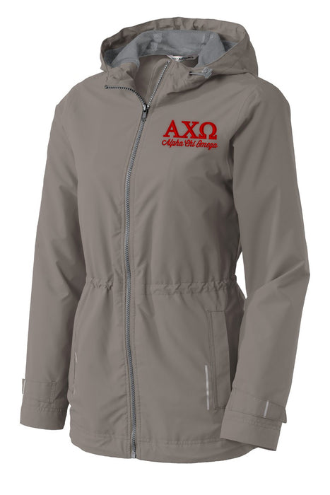 Alpha Chi Omega Embroidered Ladies Northwest Slicker