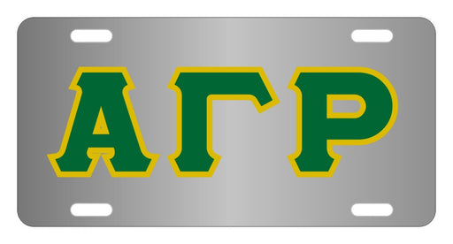Alpha Gamma Rho Fraternity License Plate Cover