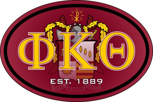 Phi Kappa Theta Color Oval Decal