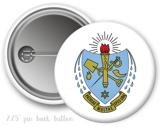 Sigma Delta Tau Color Crest Button