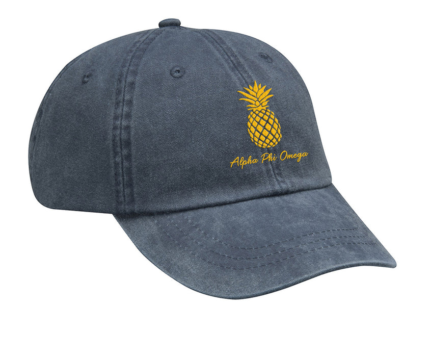 Alpha Phi Omega Pineapple Embroidered Hat